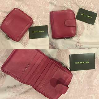💯‼️‼️ Authentic Longchamp Leather Purse in Pink