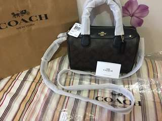 Coach Mini Bennet Dark Brown