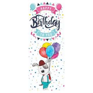 Doggy Birthday Banner Veritcal