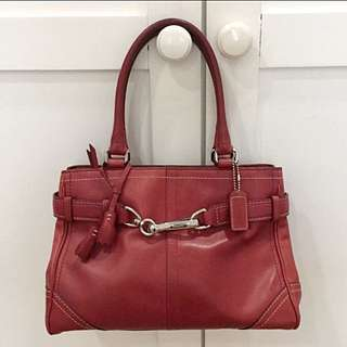 Pre Loved Coach Leather Bag