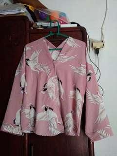 kimono flamingo