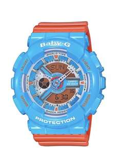 Casio Baby-G BA110NC-2A Anadigi Gloss Blue & Orange Watch
