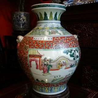 Chinese Antique Vintage Handpainted Porcelain Vase