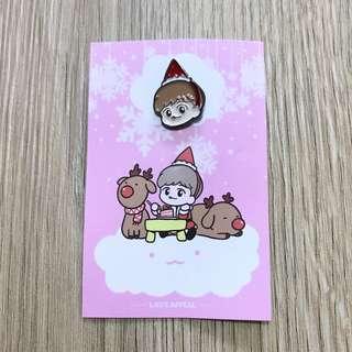 Santa Baekhyun Metal Pin Badge