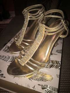 Call it spring - Gold rhinestone heels - Size 9