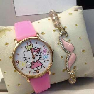 Hello Kittu Watch With Free Bracelet