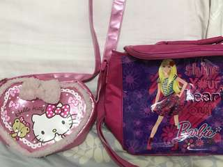 Barbie and hello kitty cute bags