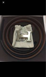 Mens Hermes H buckle