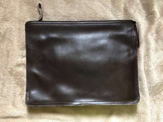Leather Workbag - Brown