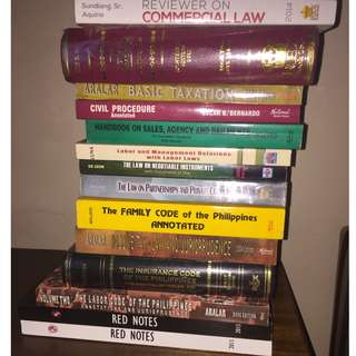 Law Books / San Beda Red Notes For Sale