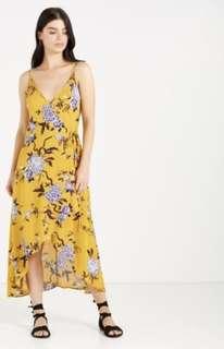 COTTON ON Lucia Wrap Midi Dress