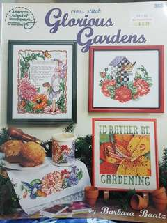 Cross Stitch book glorious gardens