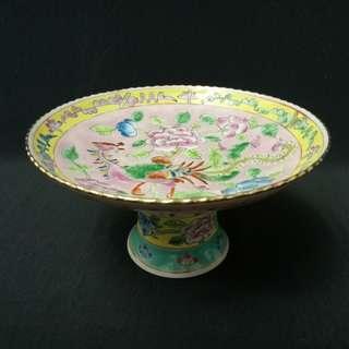 Nyonya Pink Ceramic Stem Plate
