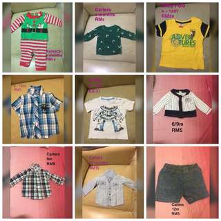 Baby polo, carters baby boy 6-12m