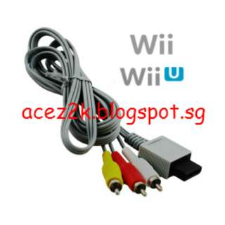 [BN] Wii / Wii U AV RCA Cable (Brand New)