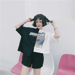 🚚 ✨拼接個性不規則短袖五分袖T恤✨