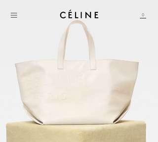 Celine leather tote bag