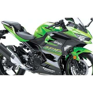 Kawasaki Ninja400 With COE $17K D/P $500 or $0 With out insurance (Terms and conditions apply. Pls call 67468582 De Xing Motor Pte Ltd Blk 3006 Ubi Road 1 #01-356 S 408700.