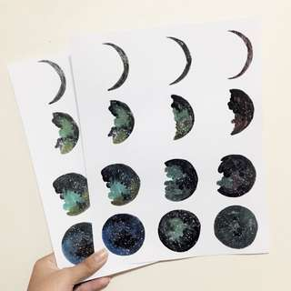 Galaxy Moon Phase poster
