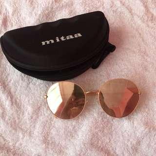 Mitaa Round Nude Pink Sunglasses