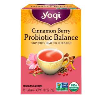 Yogi Tea, Cinnamon Berry Probiotic Balance, 16 Tea Bags, 1.02 oz (29 g)