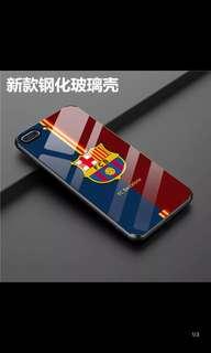 苹果X巴萨iPhone6splus钢化玻璃套