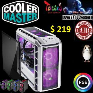 CoolerMaster H500P RGB CASE WITH T.G - WHITE MASTERCASE.