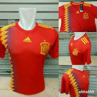 Jersey Bola Spanyol Home World Cup 2018 Grade Ori