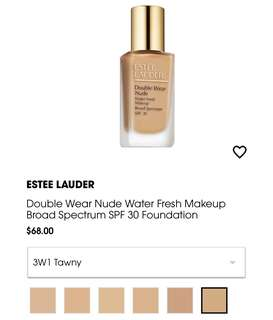 Double Wear Nude Water Fresh Foundation