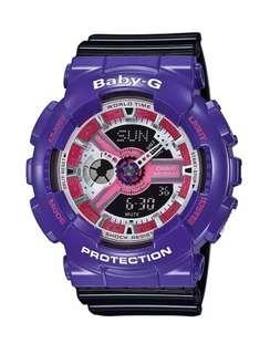 Casio Baby-G BA110NC-6A Anadigi Gloss Violet & Black Watch