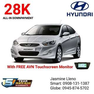 28K DP Only Brand New Hyundai Accent