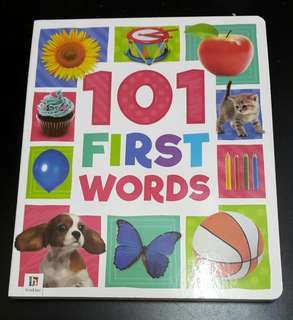 Baby board book - 101 first words