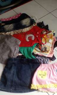All rm 60 very clean clothes baby girl
