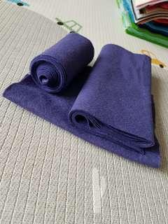 Remnant Paper and String UK premium wool blend felt indigo blue purple remnants