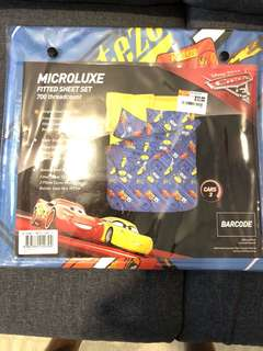 Lightning McQueen microluxe single fitted bed sheet set