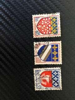 Vintage stamps - Republique Francaise Postes Paris 1965-1969