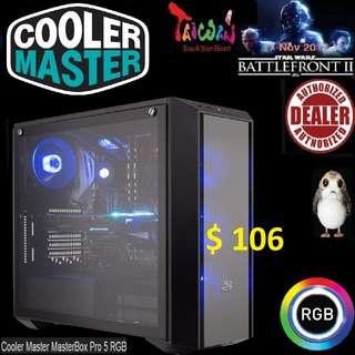 CoolerMaster PRO 5 RGB ATX CASE MASTERBOX.