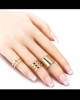 1 Set/3 Pcs Punk Gold Silver Rings Female Anillos Stack Plain Band Midi Mid Finger Knuckle Rings Set