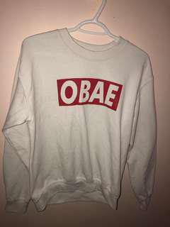 White OBAE crewneck // Size Men's S-M