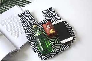 🚚 日式和風手腕包套結手腕袋  小手提包文藝復古手腕布包手拎包