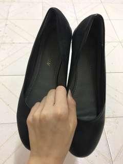 女裝 黑色 皮鞋 見工 面試 平底 矮爭 斯文 OL