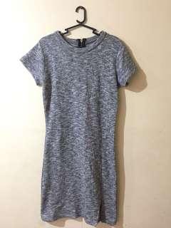 Gray semi Body Con Dress