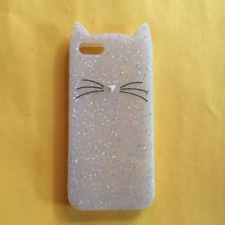 Cat Sparkly Case for IPhone 5/5S/SE