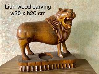 Wood Carving - Lion