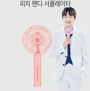WannaOne 姜丹尼爾 代言 bokuk LED手提風扇 小風扇 連 官方貼纸 夏日必備