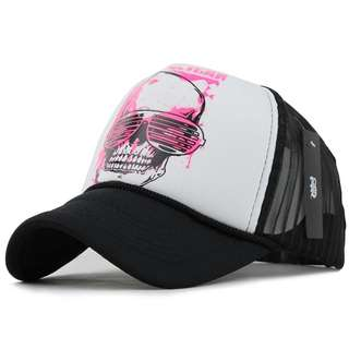 🆕! Hooligan Skeleton Party Trucker Cap