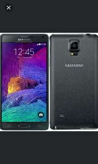 Samsung note4 32GB (price undated)
