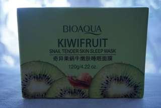 BIOAQUA Kiwifruit Snail Tender Skin Sleep Mask