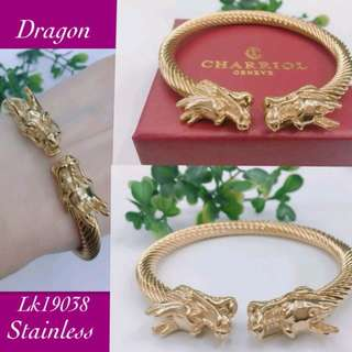 Shop : STAINLESS DRAGON BANGLES