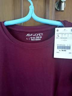 Maroon T-shirt by Ada Fashion